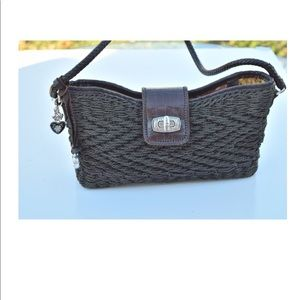 Brighton woven basket shoulder bag